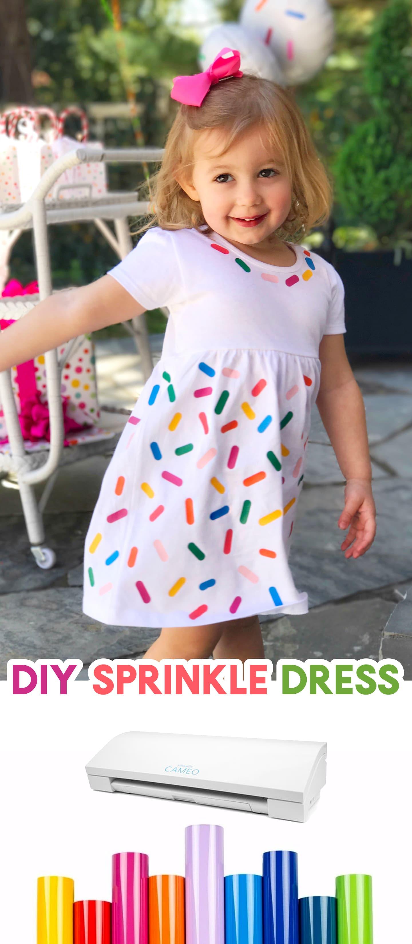 How to make a DIY Sprinkle Dress  Silhouette Cameo 3