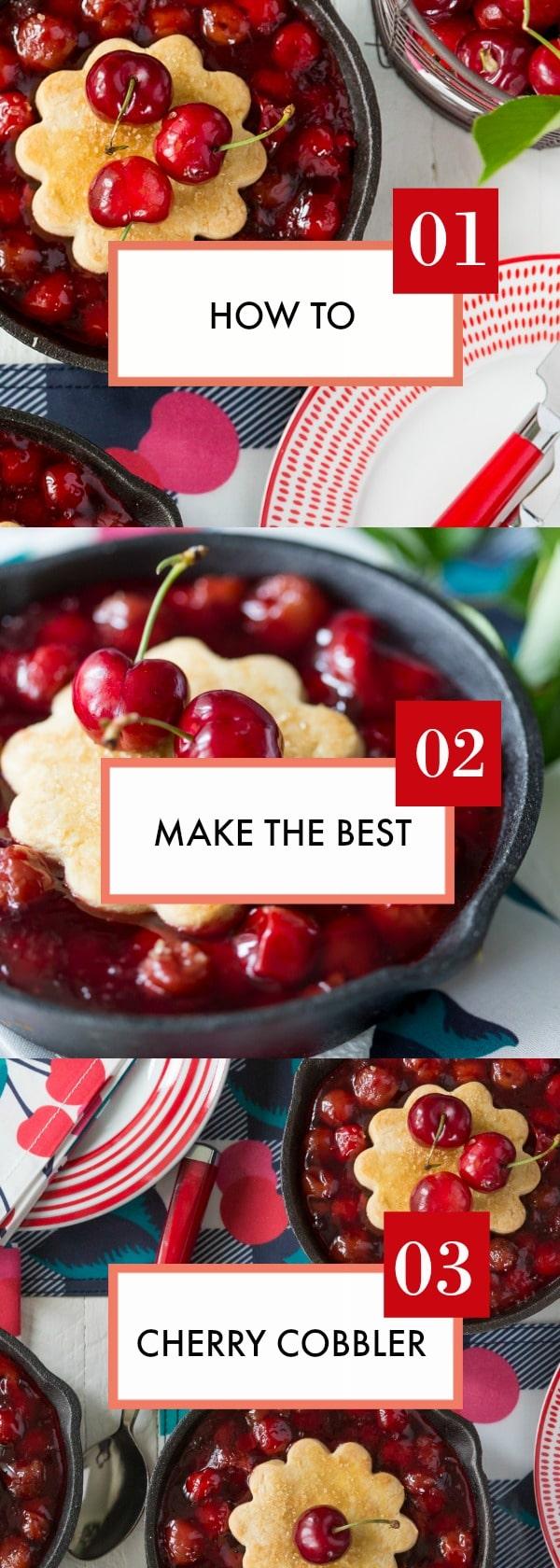 Recipe for the BEST Cherry Cobbler!