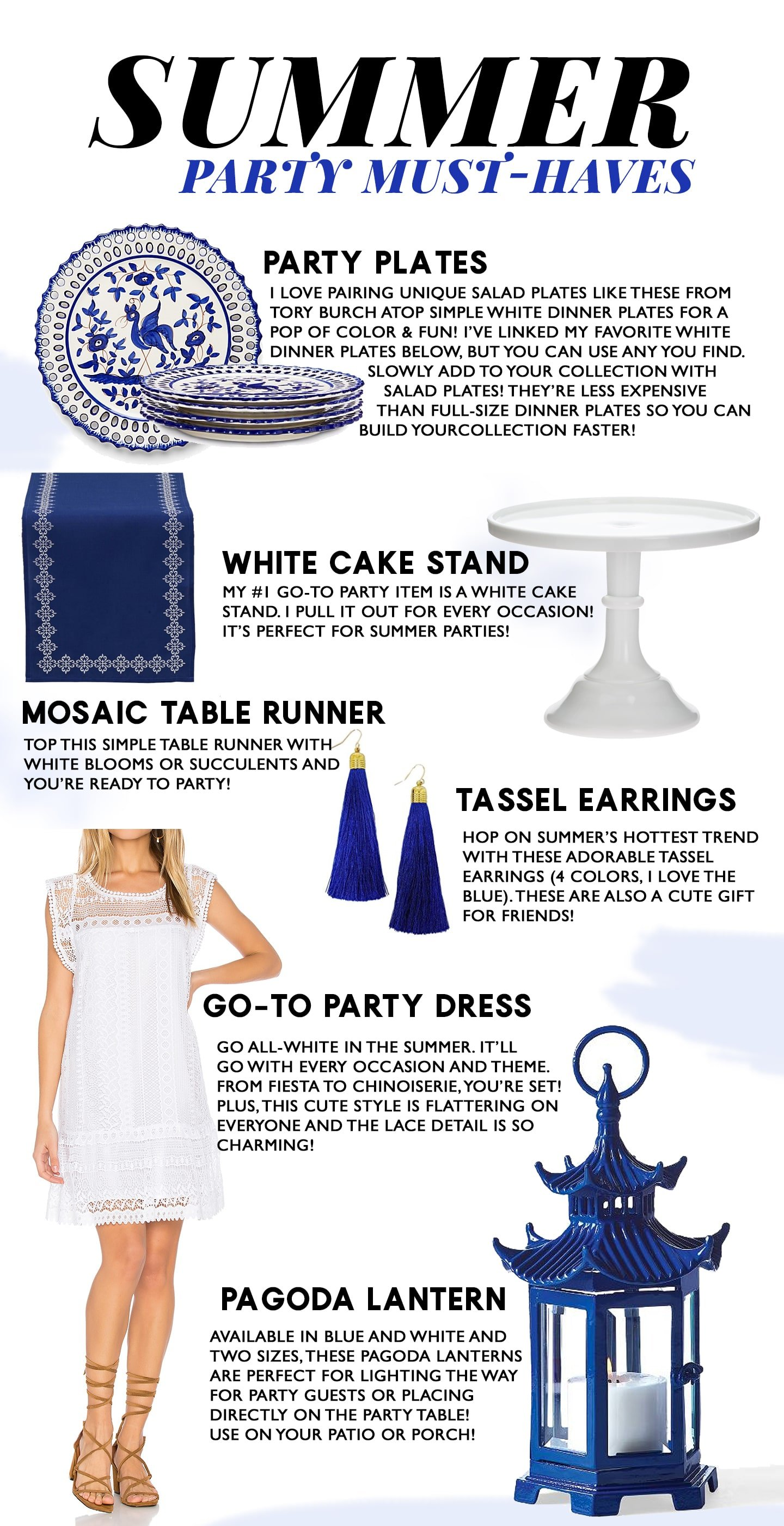 Summer Party Must-Haves | Blue & White