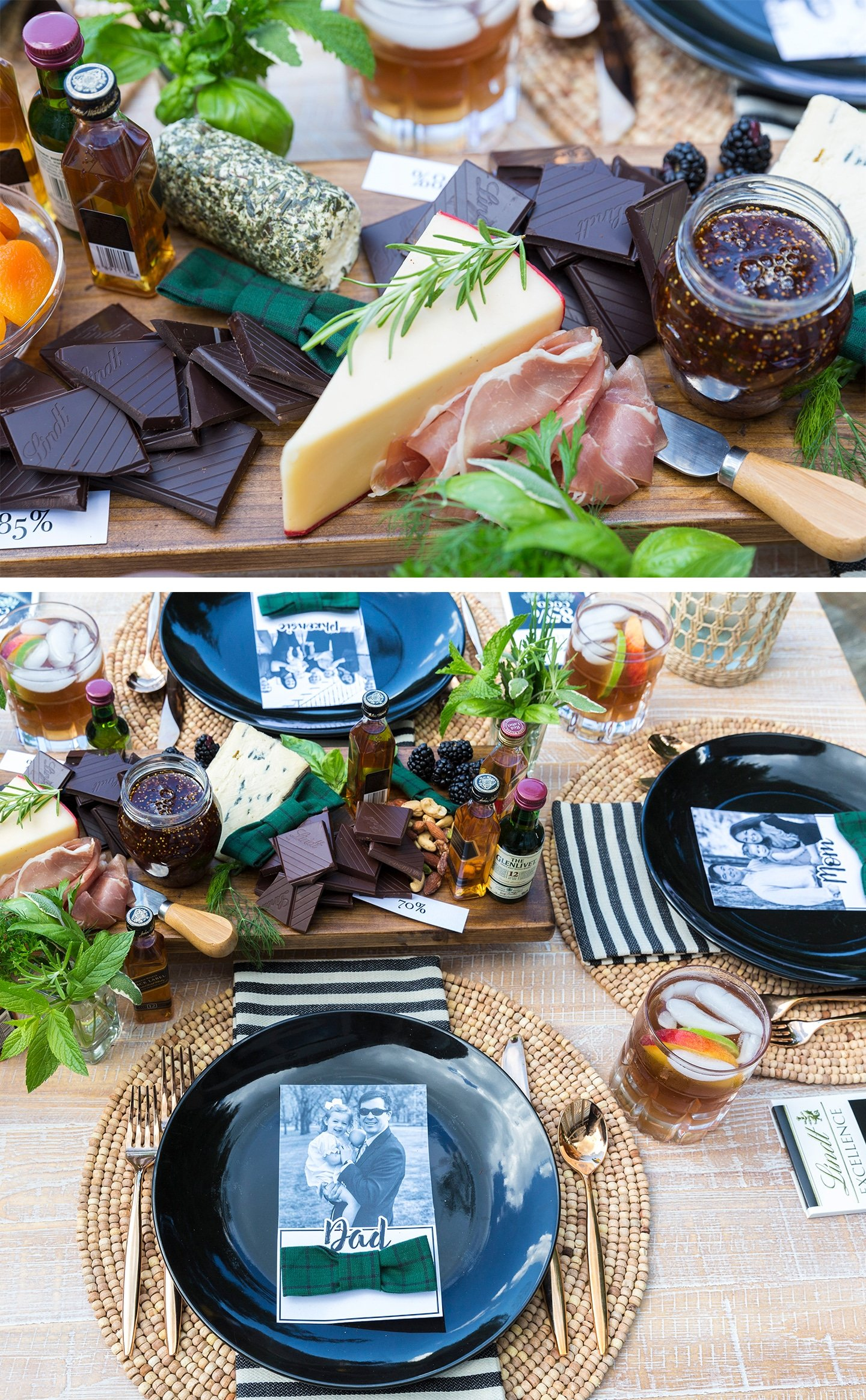 Father's Day Dinner Party Bourbon & Chocolate Charcuterie