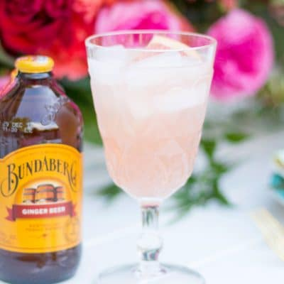 ginger beer and a pink cocktail