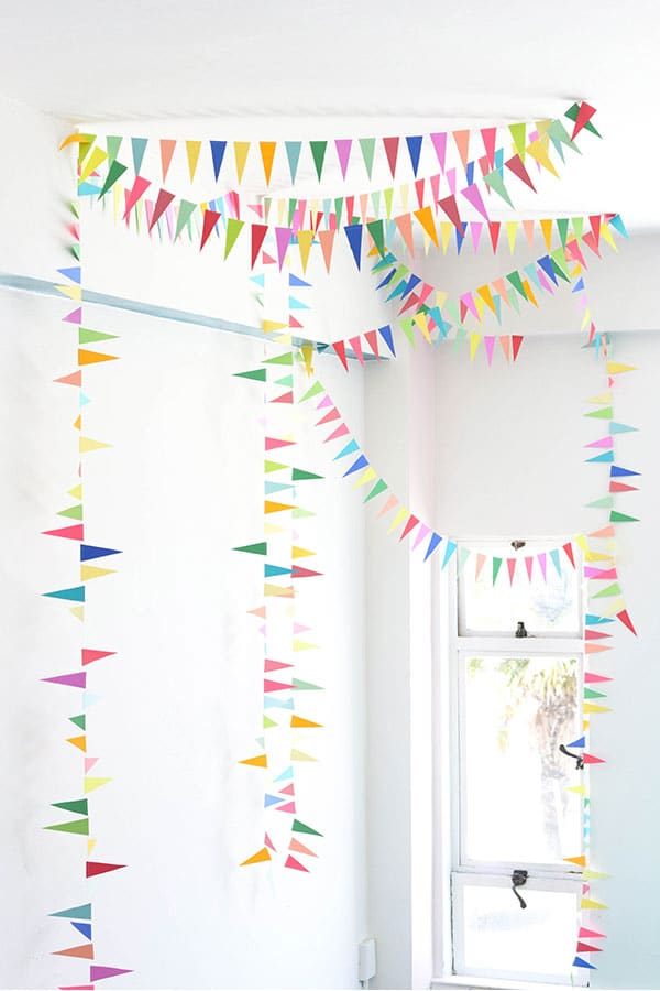 Rainbow Triangle Bunting DIY from Oh Happy Day