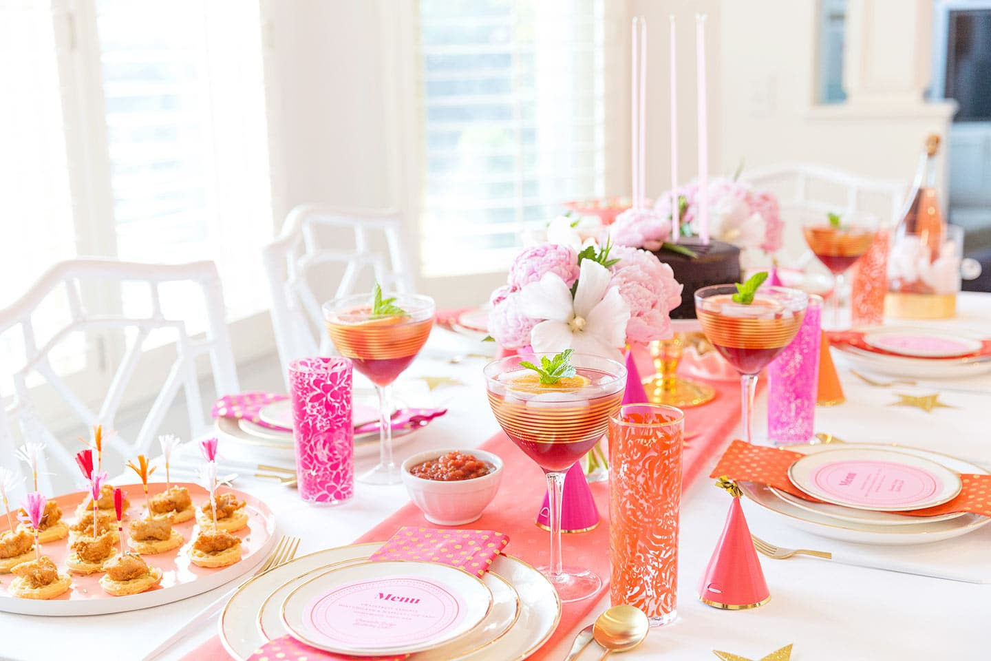 birthday party tablescape for adults