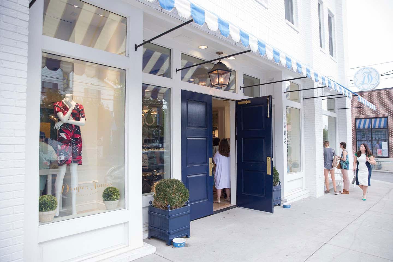 entrance to draper james store in nashville, tn