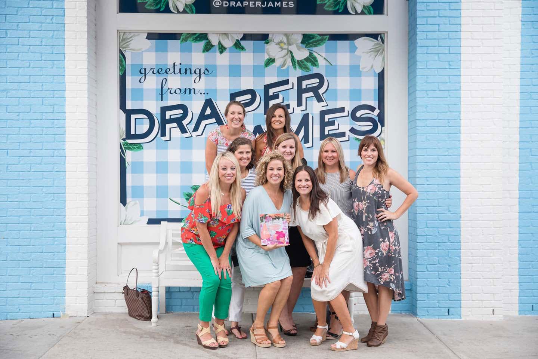 group of girls at draper james in nashville, tn