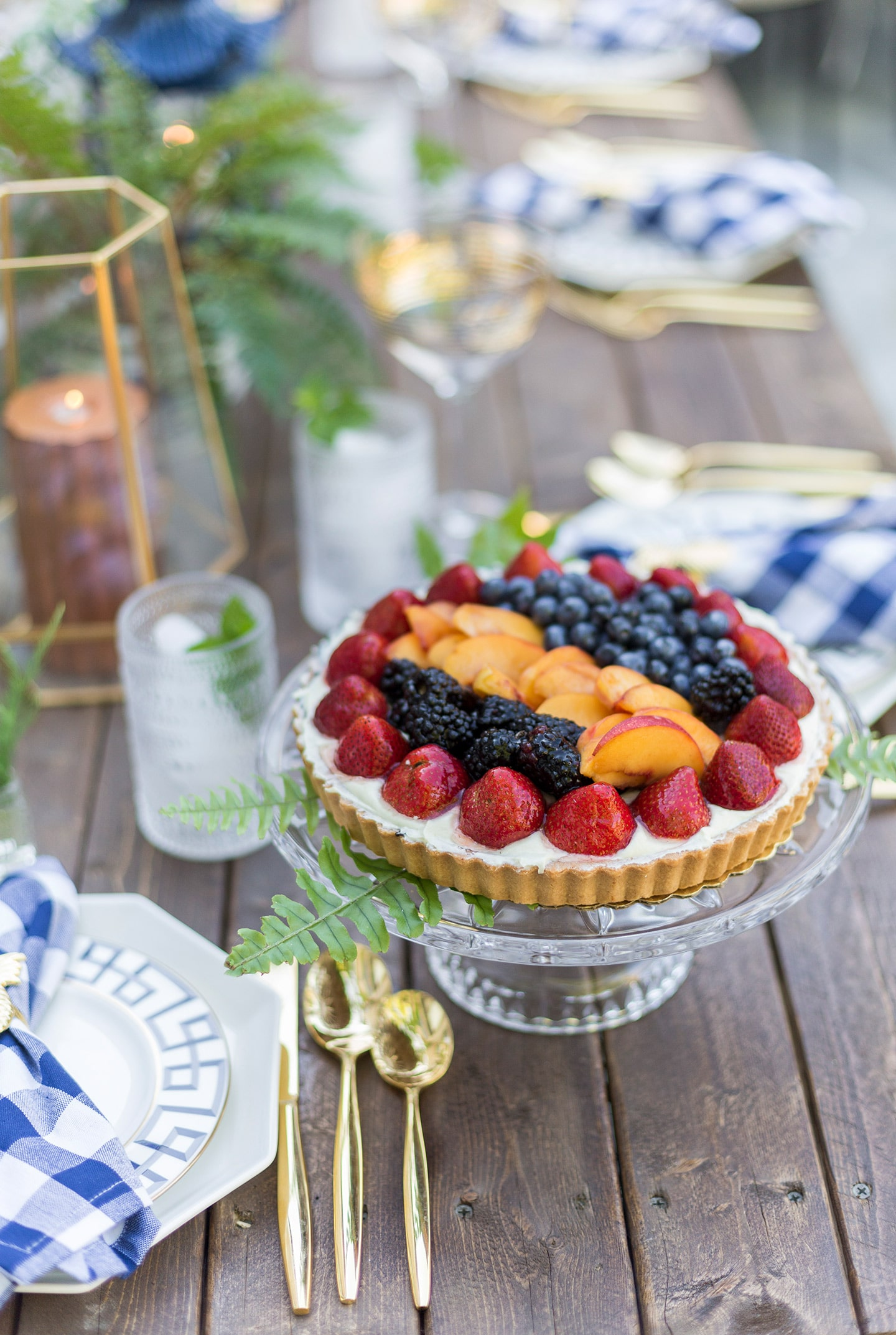 dessert on dinner party tablescape