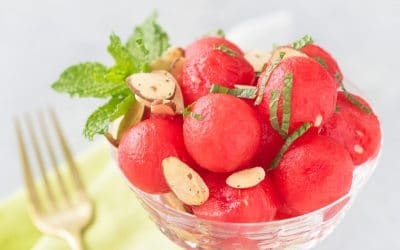 Watermelon Salad with Mint and Almonds