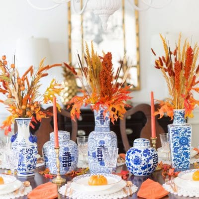 Set a gorgeous fall tablescape!