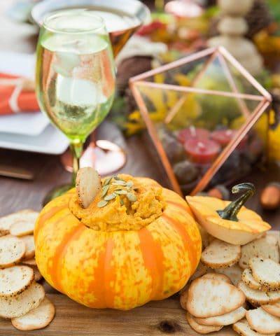 Pizzazzerie Book Recipe - Roasted Garlic & Pumpkin Hummus