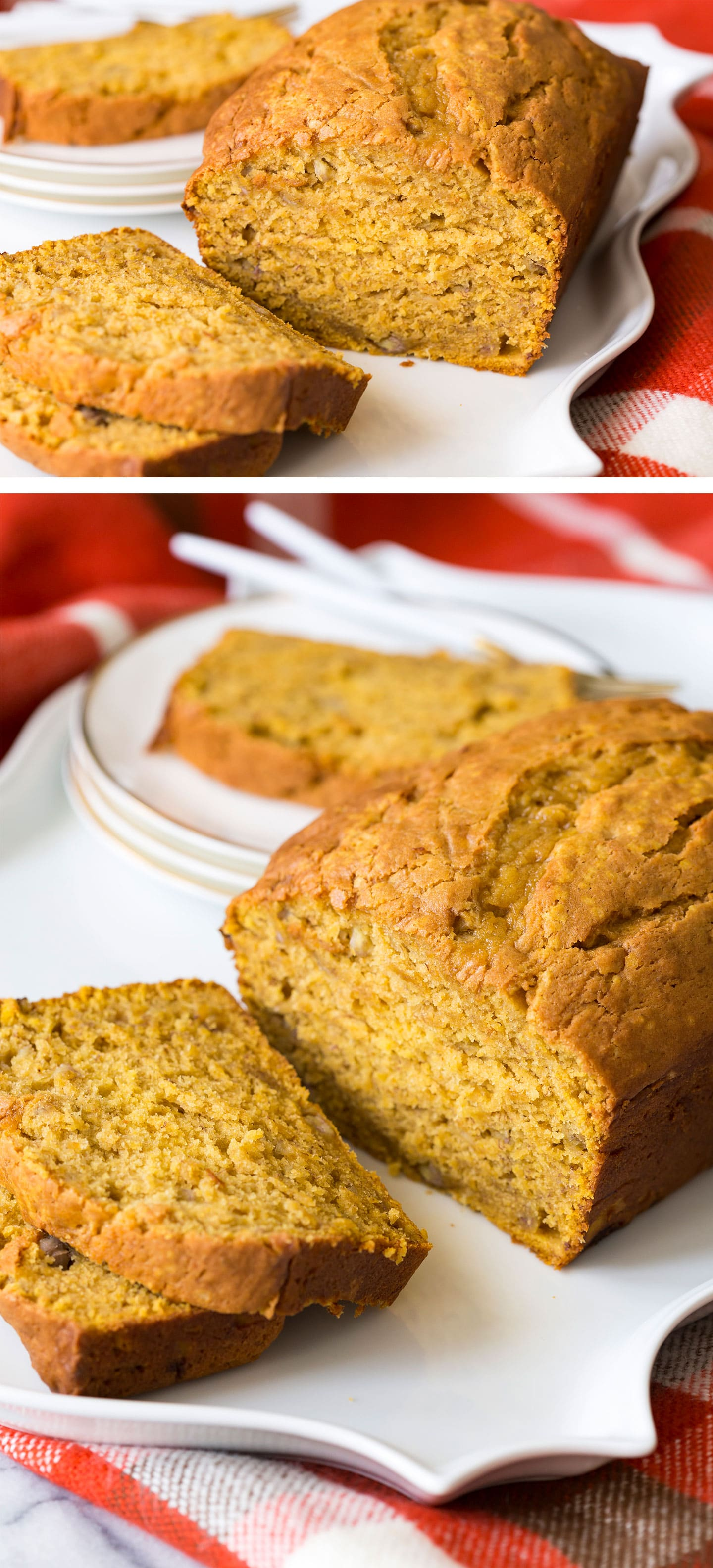 The best Pumpkin Banana Bread combines the fall favorite flavor of pumpkin with my grandmother's 100 year old famous banana bread recipe!