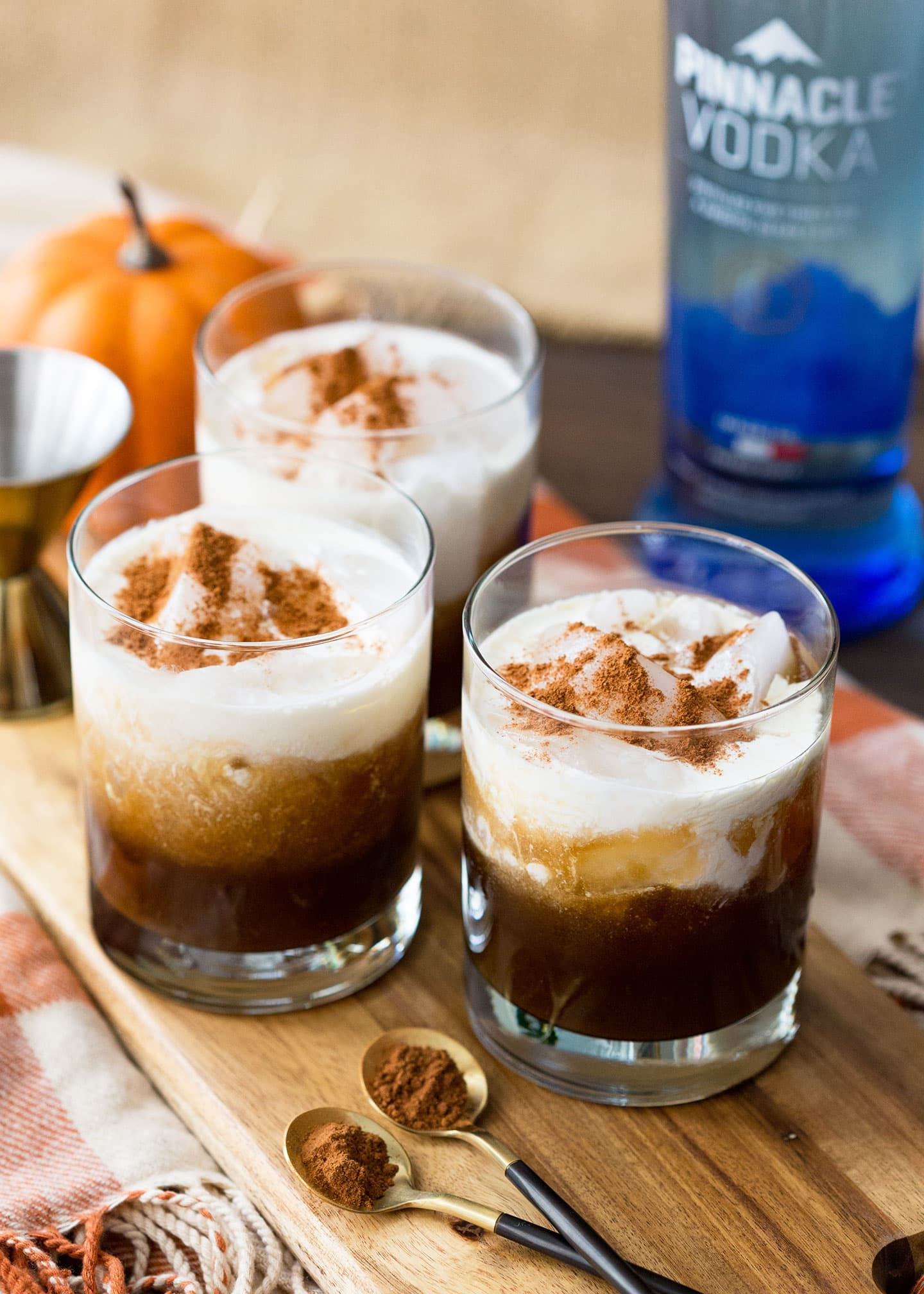 Fall Cocktail Recipe - Pumpkin White Russians