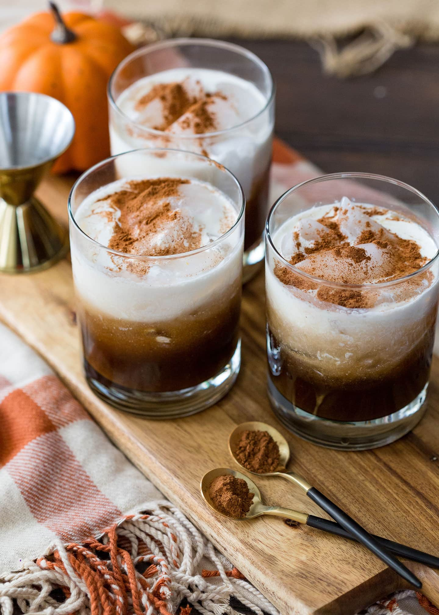 Pumpkin White Russian Fall Cocktail