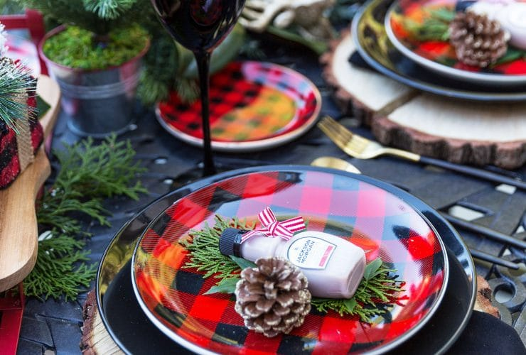 Red and Black Buffalo Check Tablescape