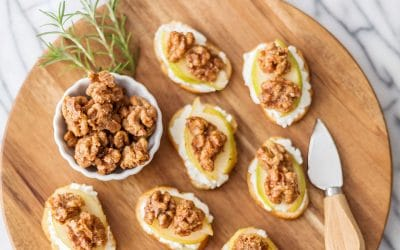 Candied Walnut Bruschetta Recipe #appetizer