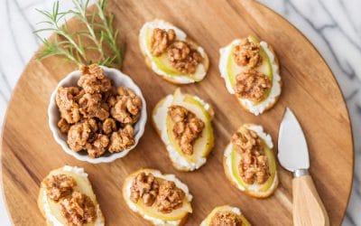 Candied Walnut Bruschetta Recipe #appetizer