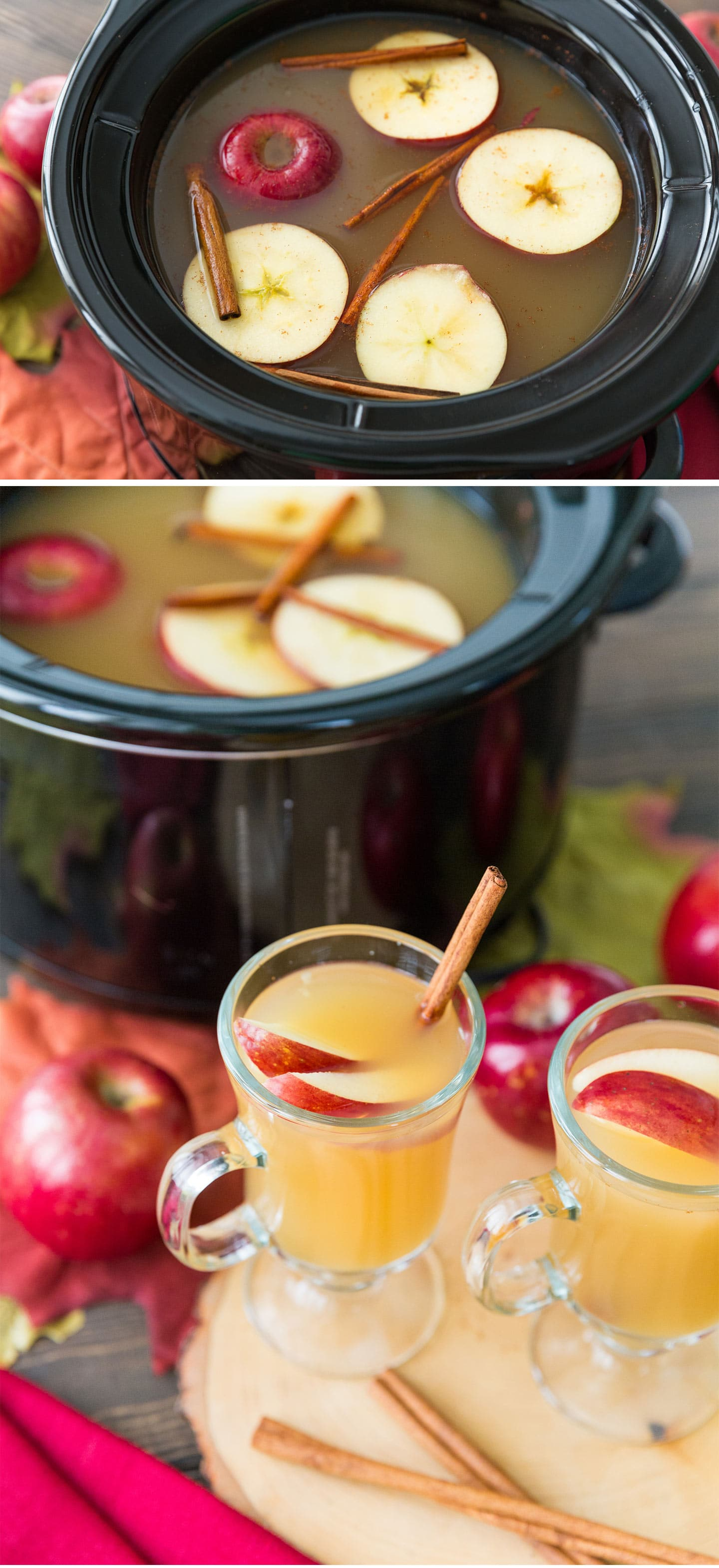 Slow Cooker Caramel Apple Cider Cocktail