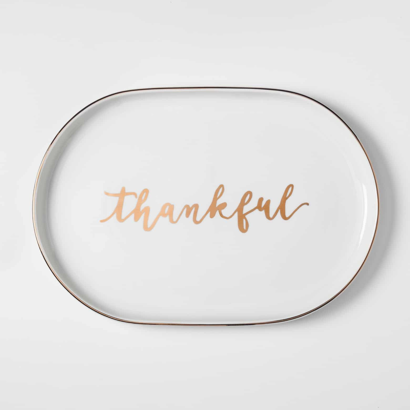 Thankful platter, perfect Thanksgiving addition!
