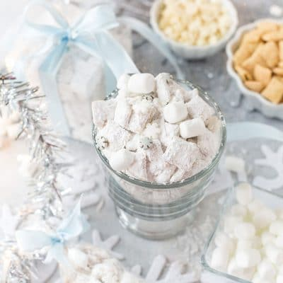 White Chocolate Snowflake Muddy Buddies