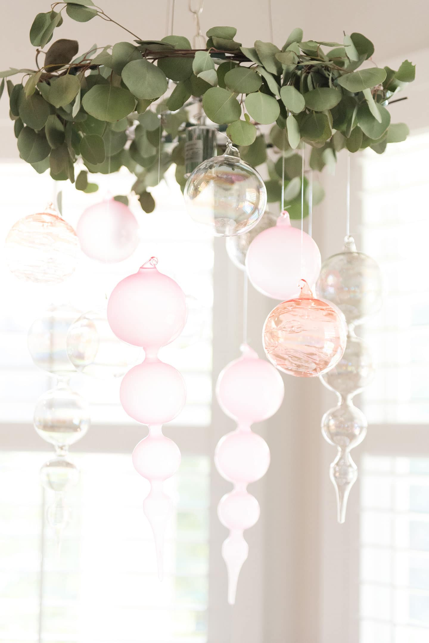 Hanging Ornaments from the Chandelier!