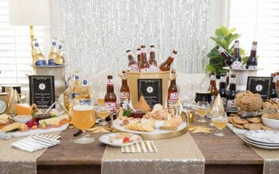 A Glitzy Food & Beer Pairing Party for New Year's Eve