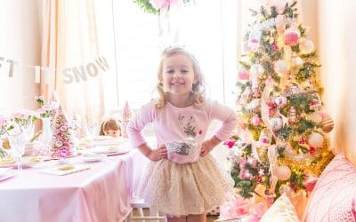 A Sparkling Pink Christmas Cookie Decorating Party
