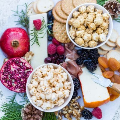 Festive Holiday Tablescape with Popcorn Charcuterie
