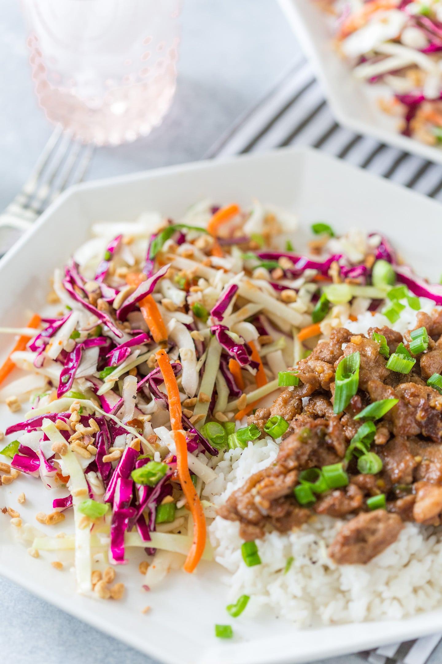 Vietnamese-Inspired Lemongrass Pork with Coconut Rice