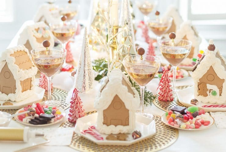 Luxe Gingerbread House Decorating Party & Gingerbread Truffle Martini Recipe