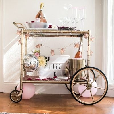 New Year's Eve Bar Cart