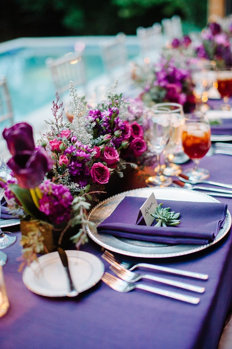 UItra Violet Tablescape Party