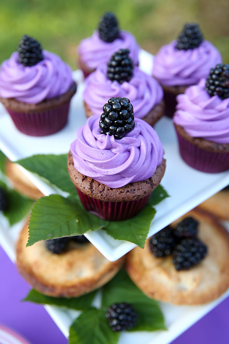Ultra Violet Cupcakes