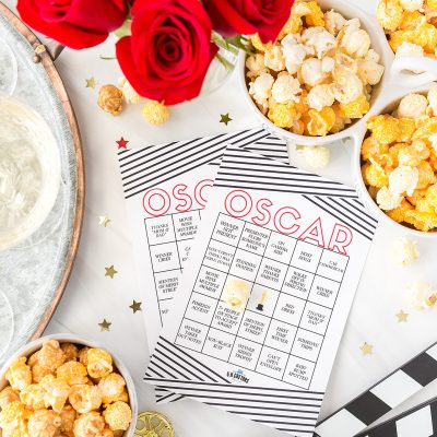 Oscars Viewing Party with #Popcorn Free Printable Bingo!