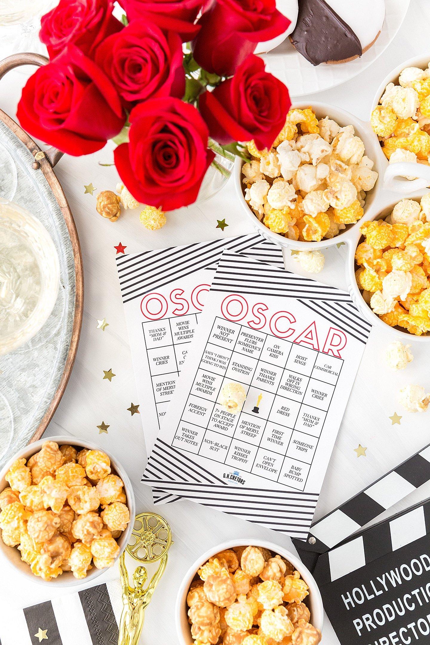 Celebrate the Oscars with Popcorn (& Printable Bingo)