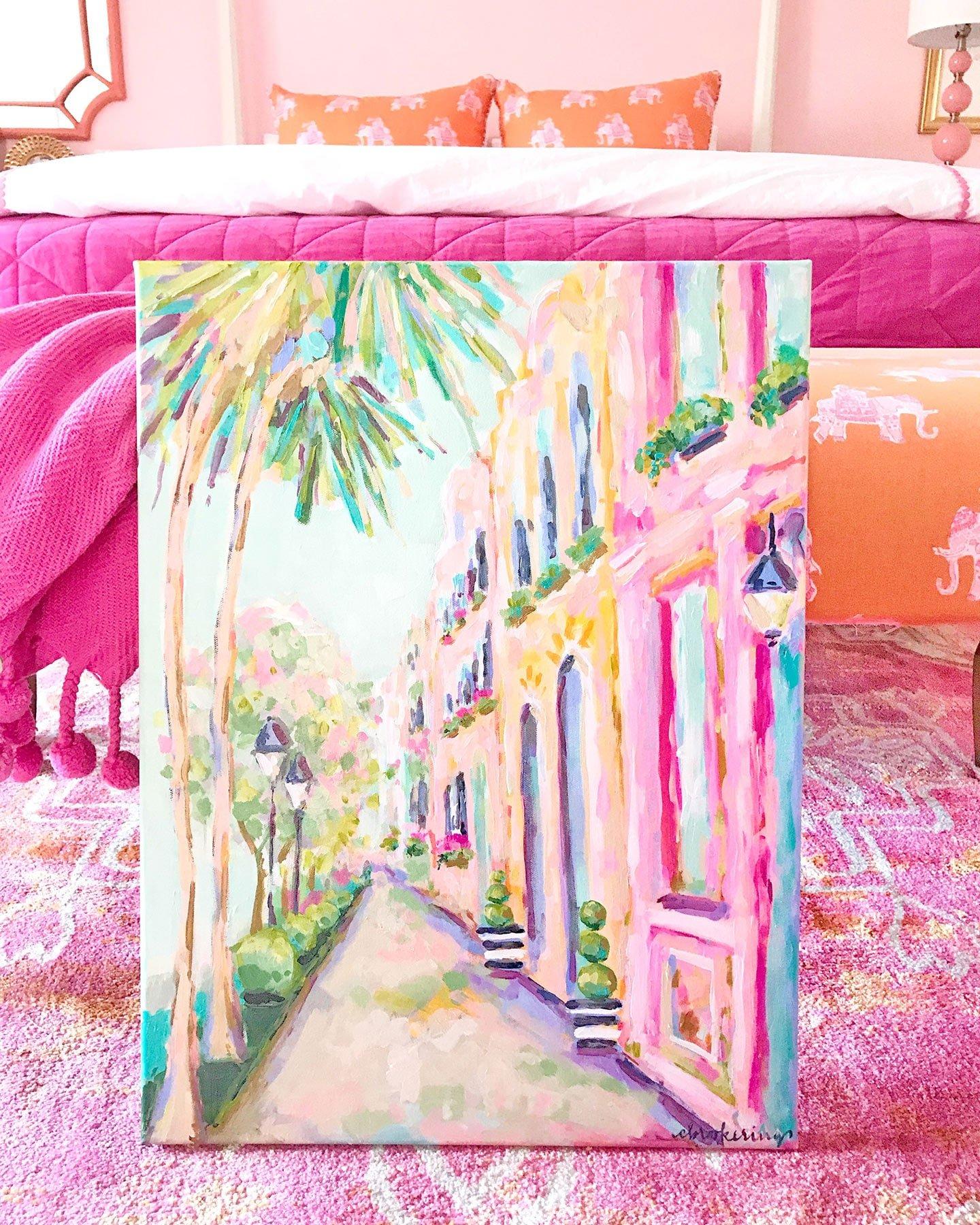 Pink and Orange Girl's Bedroom #bedroom #homedecor