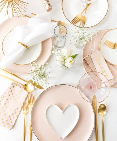 Valentine's Day Tablescape Place Setting Party