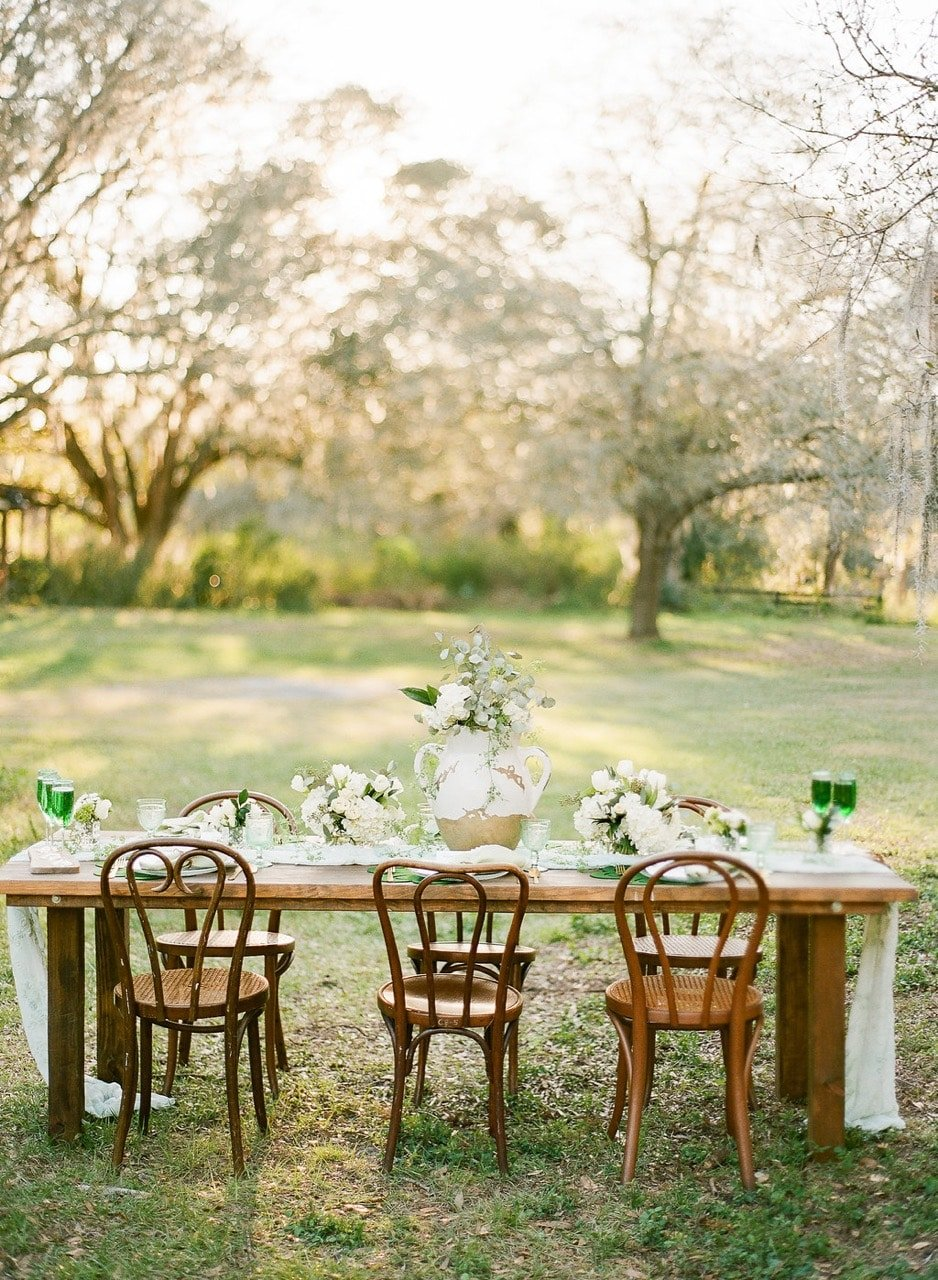 Green Rustic Party Tablescape