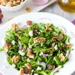 Arugula, Walnut & Fig Balsamic Salad Recipe