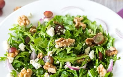 Arugula, Walnut & Fig Balsamic Salad