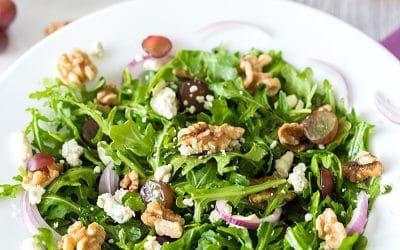 Arugula, Walnut & Fig Balsamic Salad