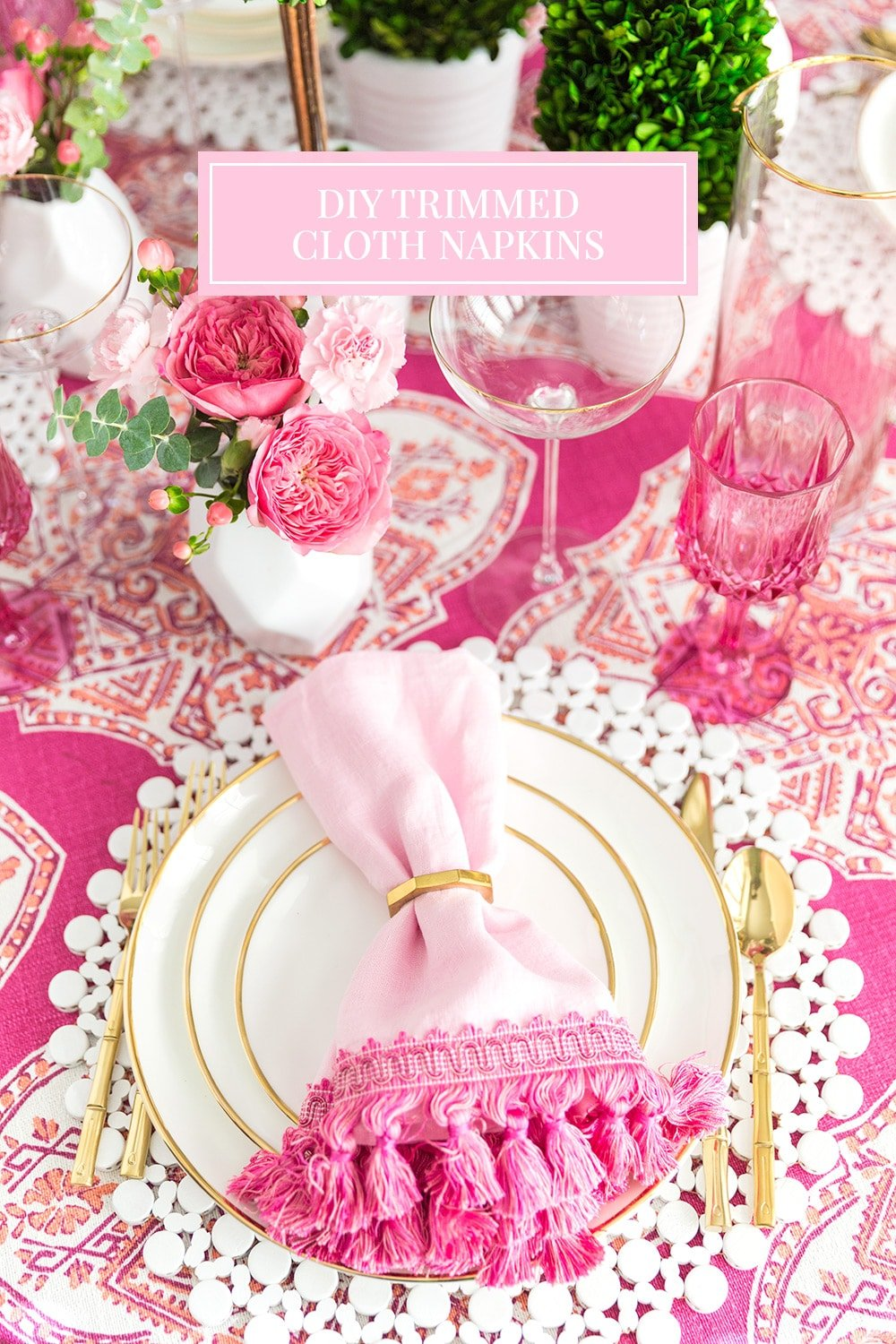 DIY Trimmed Cloth Napkins #diy