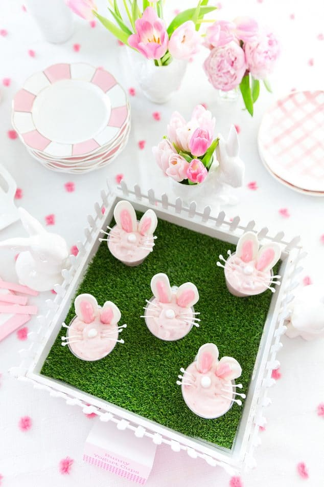 Easter Bunny Yogurt Cups DIY