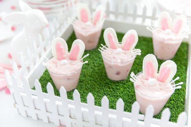 Easter Bunny Yogurt Cups, Cute Easter Treat for the Kids