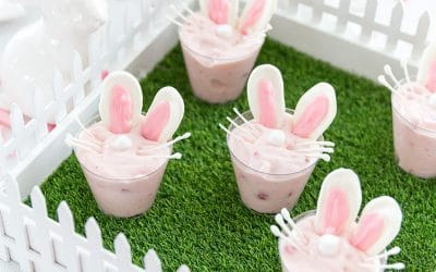 Delicious Bunny Yogurt Cups for Easter!