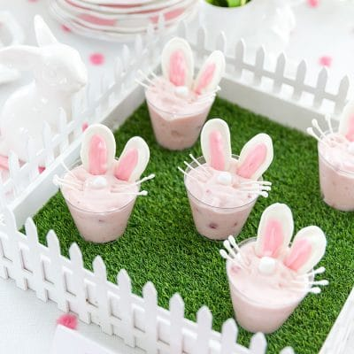 Easter Bunny Yogurt Cups #easter #diy #treat