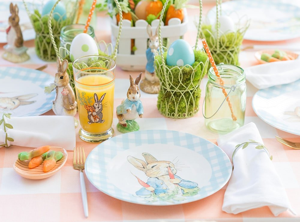 Easter tablescape for the kids