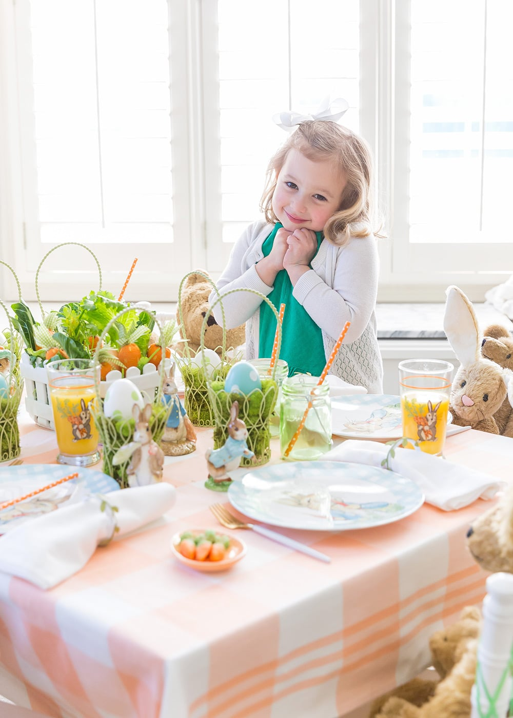 Kid's Peter Rabbit Easter Tablescape
