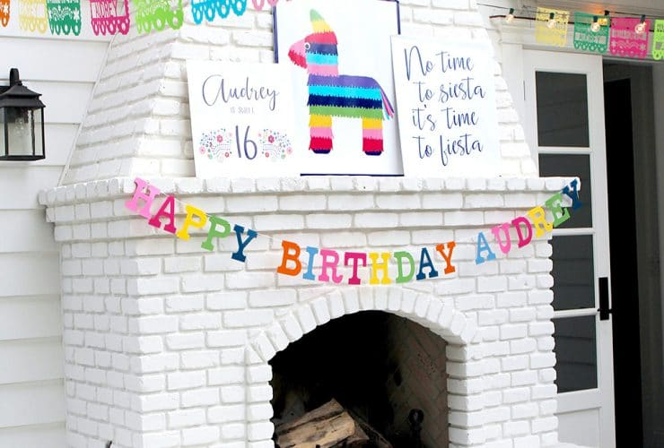 A Colorful Fiesta Themed 16th Birthday Party