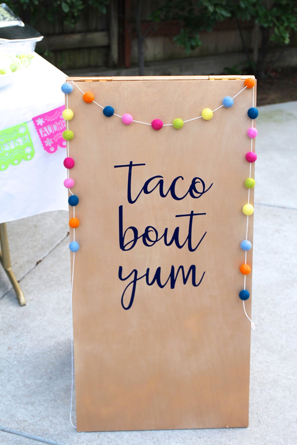Taco Bout Yum Sign for Fiesta Birthday Party