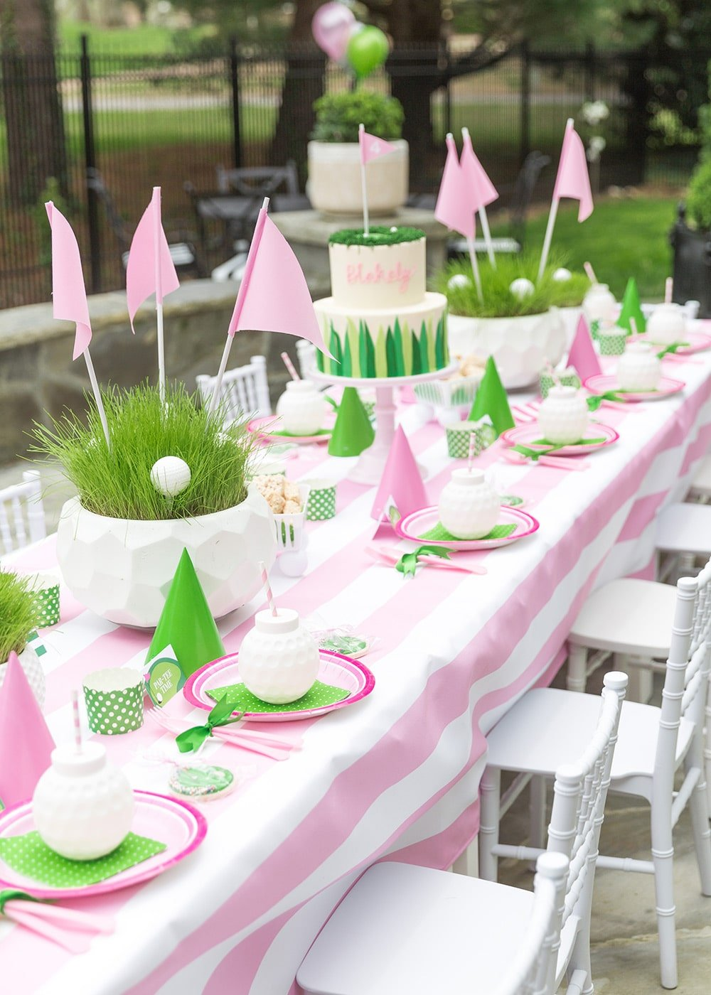 Golf Birthday Partee Tablescape for Kids Party