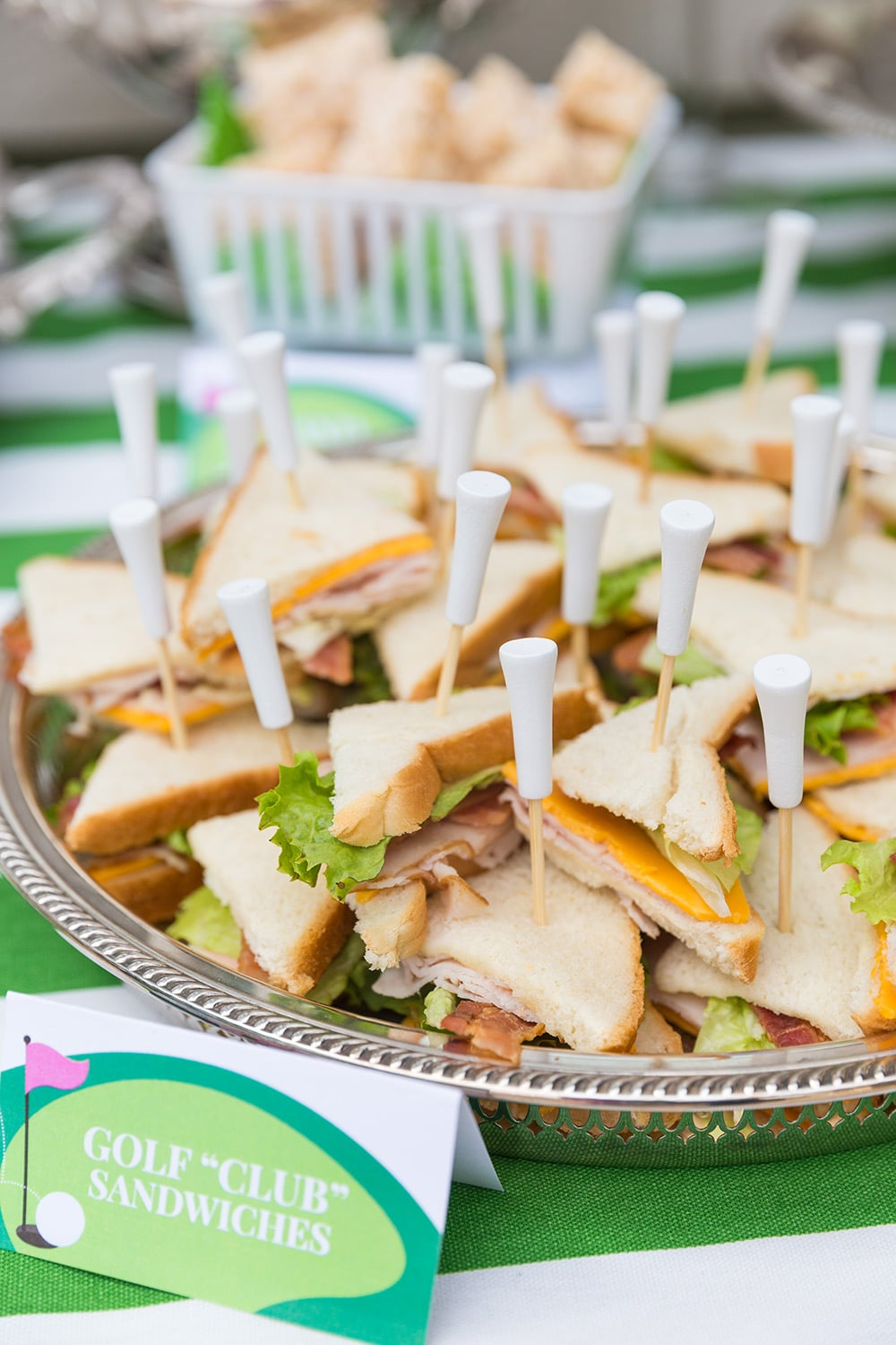 "Golf ""Club"" Sandwiches for Golf Partee"